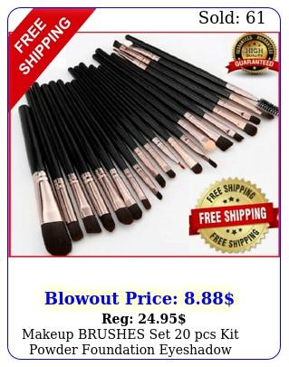 makeup brushes set pcs kit powder foundation eyeshadow eyeliner lip brus