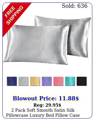 pack soft smooth satin silk pillowcase luxury bed pillow case cushion cover
