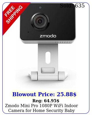 zmodo mini pro p wifi indoor camera home security baby monitor pet ca