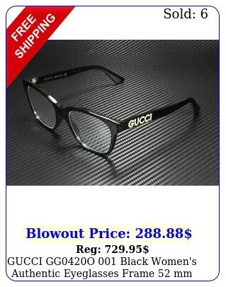 gucci ggo black women's authentic eyeglasses frame m