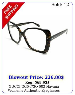 gucci ggo havana women's authentic eyeglasses frame m