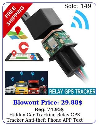 hidden car tracking relay gps tracker antitheft phone app text kill fuel pum