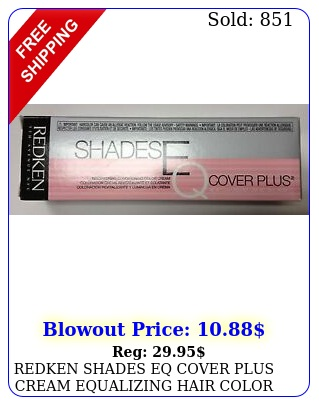 redken shades eq cover plus cream equalizing hair color oz now lower price