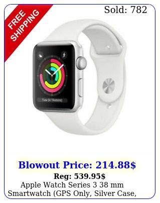 apple watch series  mm smartwatch gps only silver case white mteyll