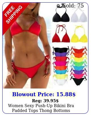 women sexy pushup bikini bra padded tops thong bottoms swimwear bathing suit