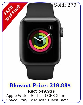 apple watch series gps mm space gray case with black band mtfll
