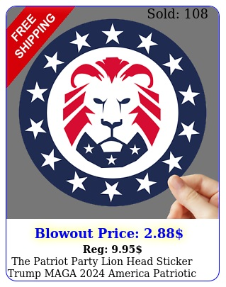 the patriot party lion head sticker trump maga america patriotic decal us