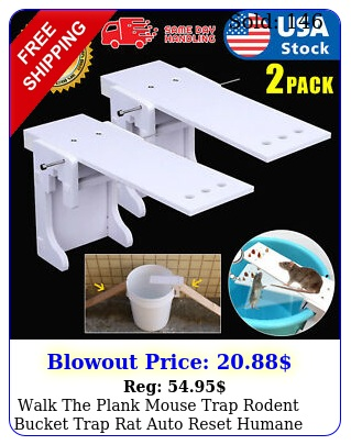 walk the plank mouse trap rodent bucket trap rat auto reset humane mice catche