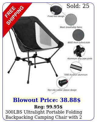 lbs ultralight portable folding backpacking camping chair with storage bag