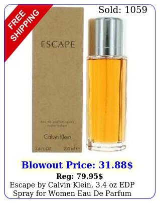 escape by calvin klein oz edp spray women eau de parfu