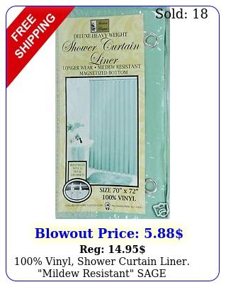 vinyl shower curtain liner mildew resistant sag