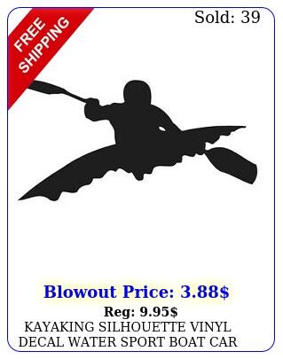 kayaking silhouette vinyl decal water sport boat car window choose colo