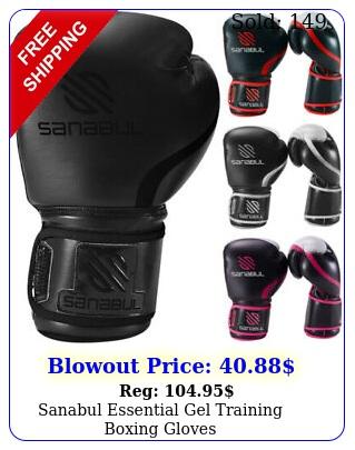 sanabul essential gel training boxing glove