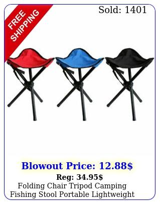 folding chair tripod camping fishing stool portable lightweight travel slacke