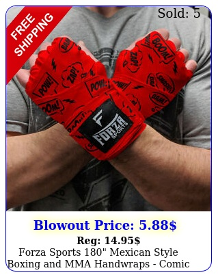 forza sports mexican style boxing mma handwraps comic book re