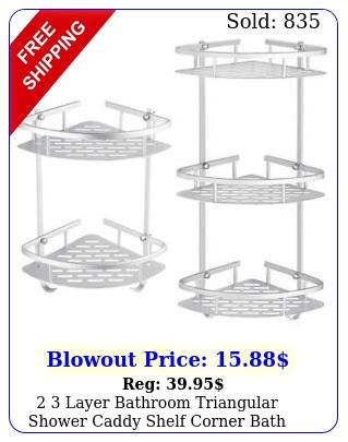 layer bathroom triangular shower caddy shelf corner bath storage holder rac
