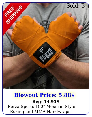 forza sports mexican style boxing mma handwraps orang
