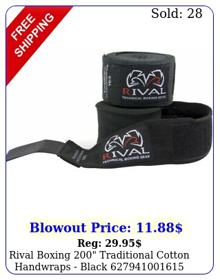 rival boxing traditional cotton handwraps blac