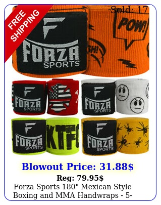 forza sports mexican style boxing mma handwraps pac
