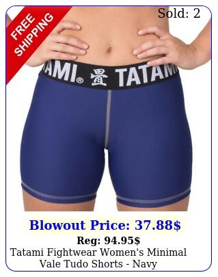 tatami fightwear women's minimal vale tudo shorts nav