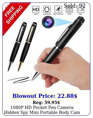 p hd pocket pen camera hidden spy mini portable body cam video recorde