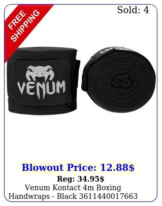 venum kontact m boxing handwraps blac