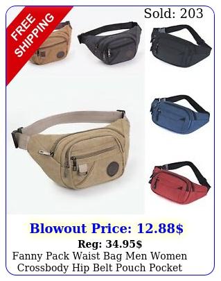 fanny pack waist bag men women crossbody hip belt pouch pocket travel sport bu