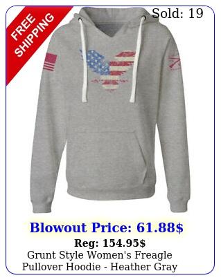 grunt style women's freagle pullover hoodie heather gra