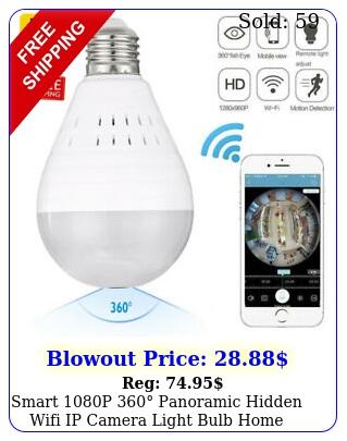 smart p panoramic hidden wifi ip camera light bulb home security lam