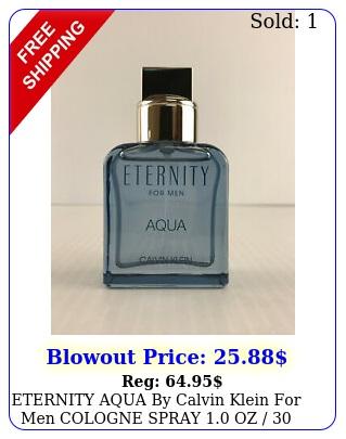 eternity aqua by calvin klein men cologne spray oz  ml unbo