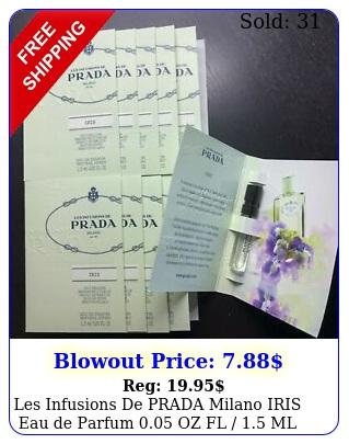 les infusions de prada milano iris eau de parfum oz fl  ml lot deal