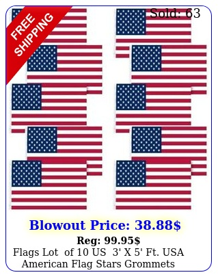 flags lot of us ' x ' ft usa american flag stars grommets united state