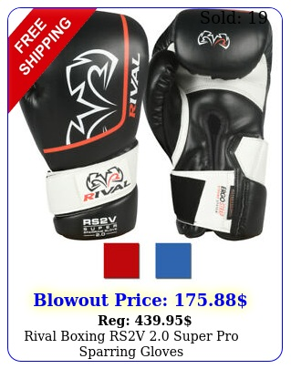 rival boxing rsv super pro sparring glove