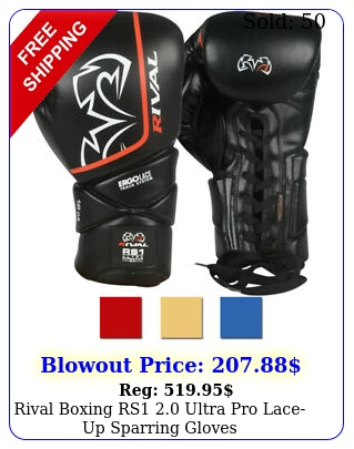rival boxing rs ultra pro laceup sparring glove