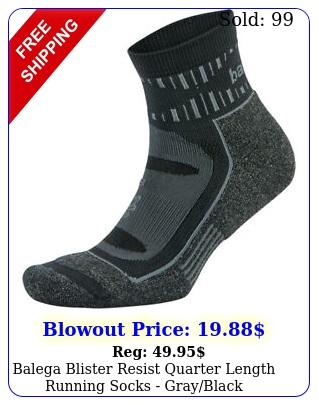 balega blister resist quarter length running socks grayblac
