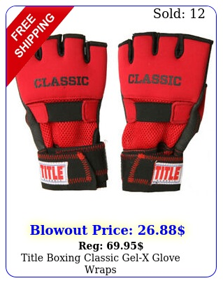 title boxing classic gelx glove wrap