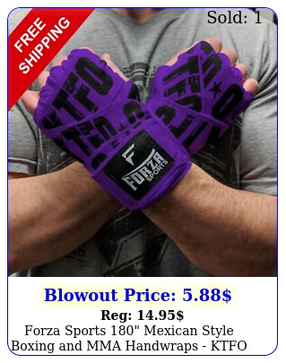 forza sports mexican style boxing mma handwraps ktfo purpl