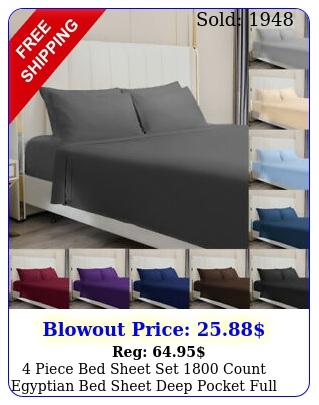 piece bed sheet set count egyptian bed sheet deep pocket full queen kin