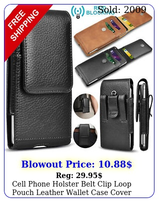 cell phone holster belt clip loop pouch leather wallet case cover wcard holde