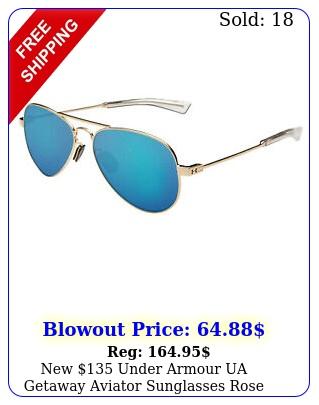 under armour ua getaway aviator sunglasses rose gold blu