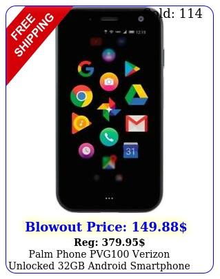 palm phone pvg verizon unlocked gb android smartphone in titaniu