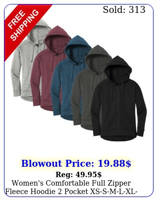 women's comfortable full zipper fleece hoodie pocket xssmlxlxxx nw