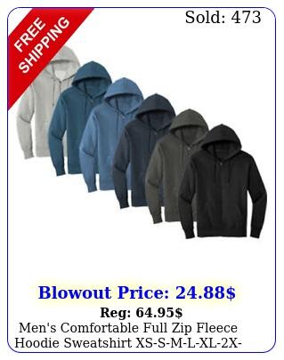 men's comfortable full zip fleece hoodie sweatshirt xssmlxlxxx nw