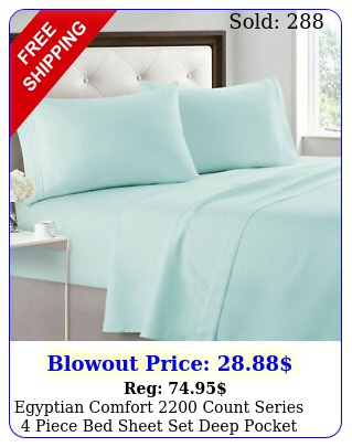 egyptian comfort count series piece bed sheet set deep pocket bed sheet