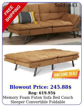 memory foam futon sofa bed couch sleeper convertible foldable loveseat full siz