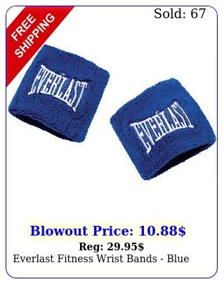 everlast fitness wrist bands blu