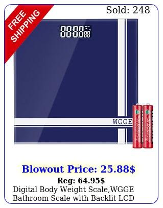 digital body weight scalewgge bathroom scale with backlit lcd display maxl