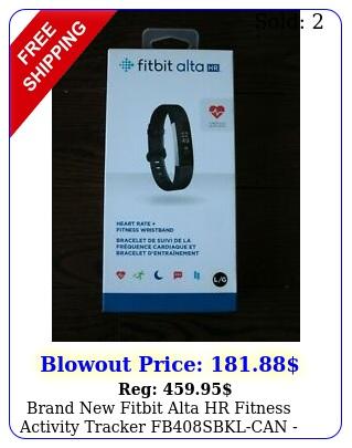 brand fitbit alta hr fitness activity tracker fbsbklcan black larg