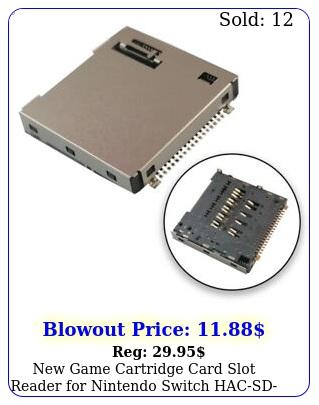 game cartridge card slot reader nintendo switch hacsd ha