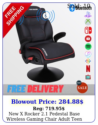 x rocker pedestal base wireless gaming chair adult teen ps xbox t